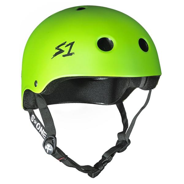 S-One Certified Bike Skate Scooter Helmet Bright Green