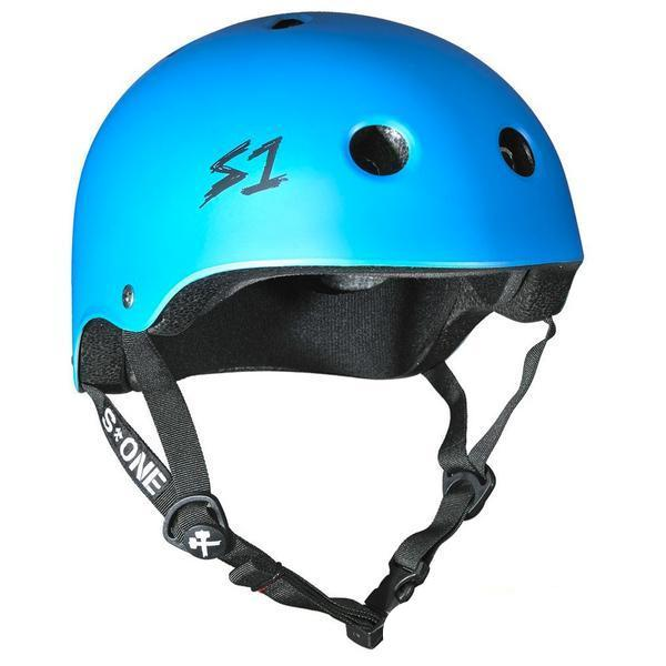 S-One Certified Bike Skate Scooter Helmet Cyan