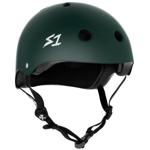 S-One Certified Bike Skate Scooter Helmet Dark Green