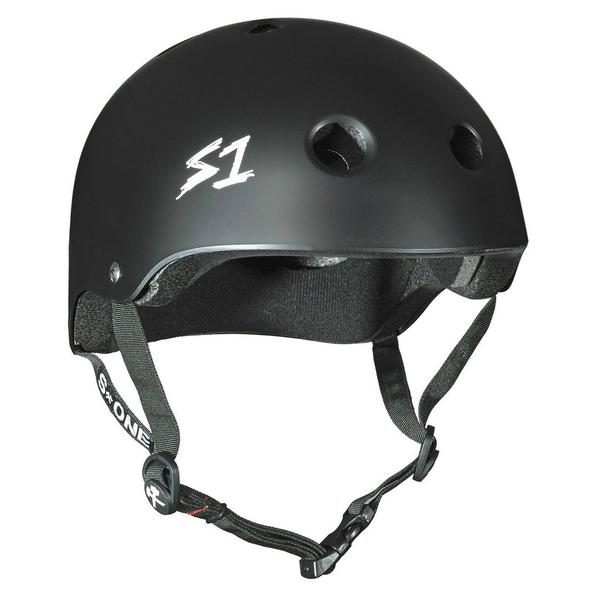 S-One Certified Bike Skate Scooter Helmet Matte Black