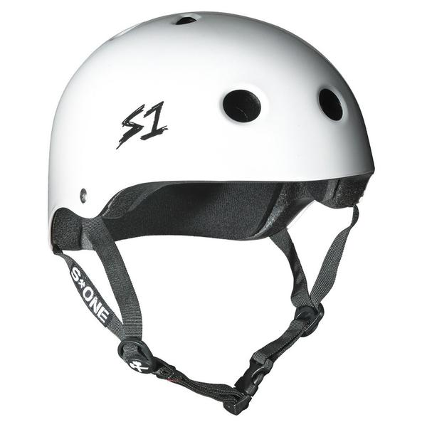 S-One Certified Bike Skate Scooter Helmet White