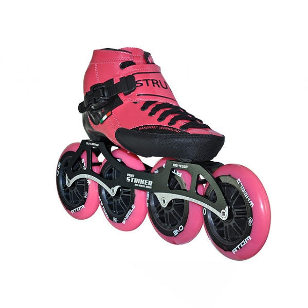 LUIGINO Strut 4 Wheel Inline Speed Skate Package -Pink
