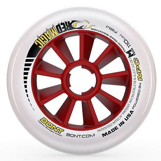 BONT Red Magic 110mm Inline Skate Race wheel - Extra Firm