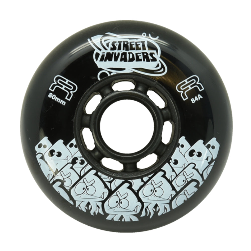 FR Street Invader 72mm Inline Skating Wheel - Black