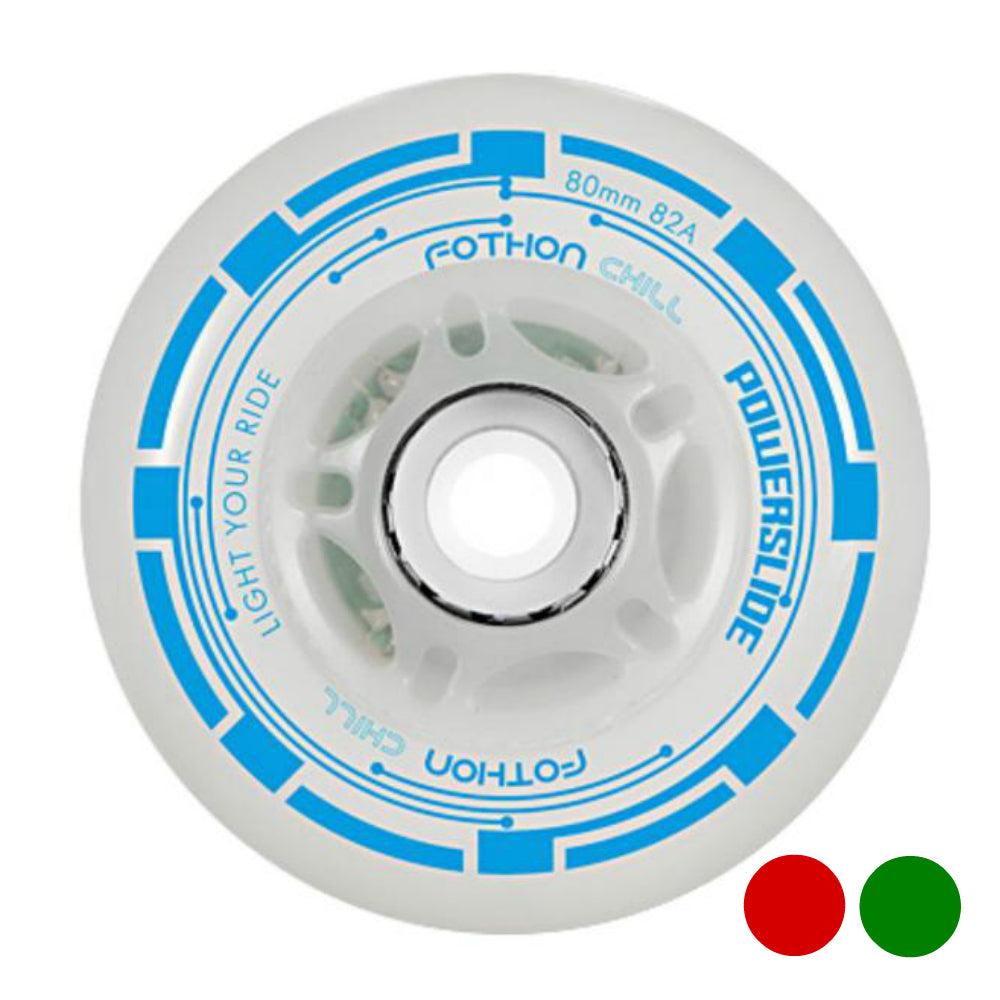 POWERSLIDE-Fothon-LED-80mm-Inline-Skate-Wheels