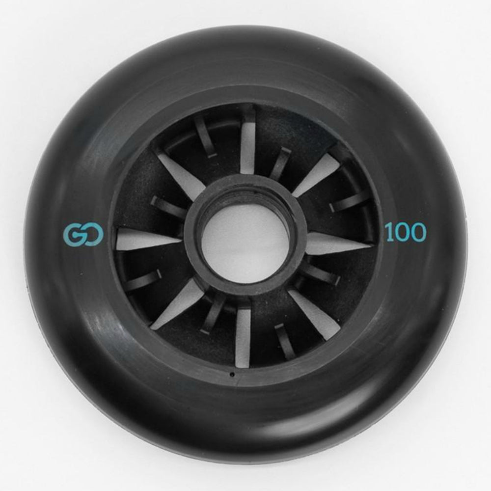 Go Project Bow and Arrow 100mm wheel 4 pack side view