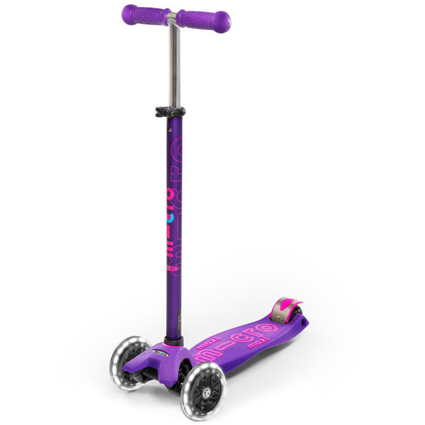 Micro Maxi Deluxe LED scooter purple