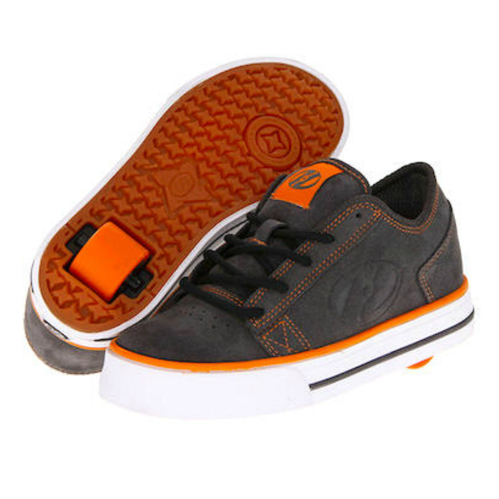 Heelys Plush grey suede orange roller shoe