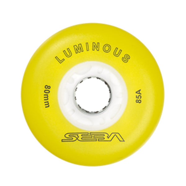 SEBA Luminous Wheel 4pack 80mm Yellow