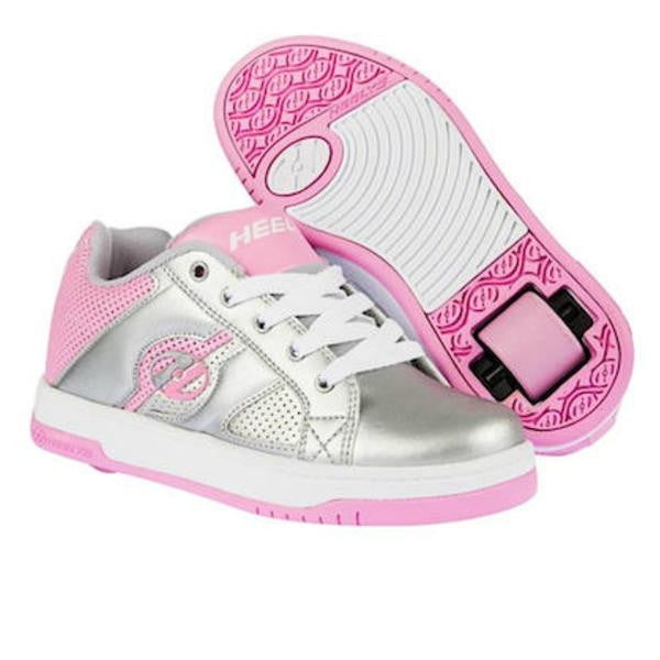 Heelys Split roller shoe Silver and Pink and white