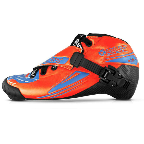 BONT Kids Jet 2 point 165mm Inline skate Race Boot - Red