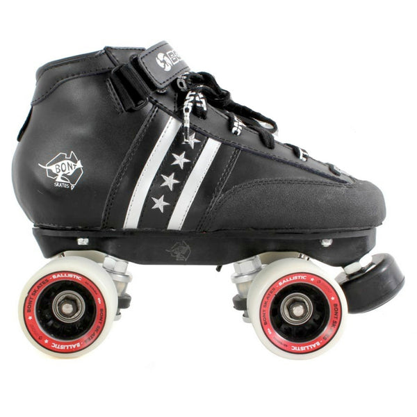 BONT Quad Star Ballistic Rollerskate Package - Side on