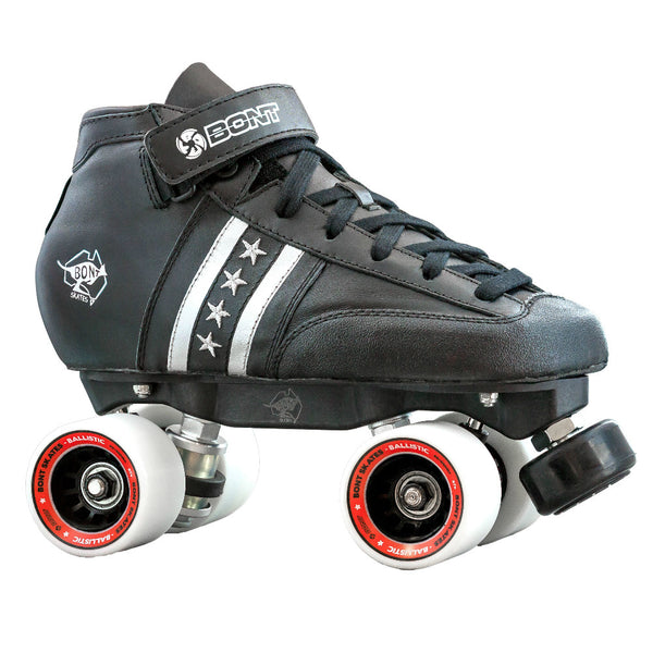 BONT Quad Star Ballistic Rollerskate Package - angled view