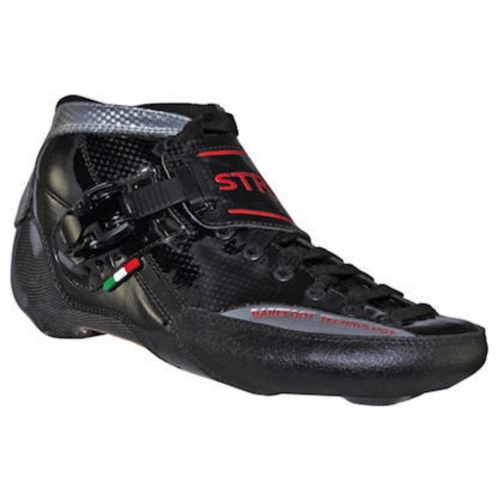 LUIGINO STRUT Inline Speed Skate Boot - Black and Red