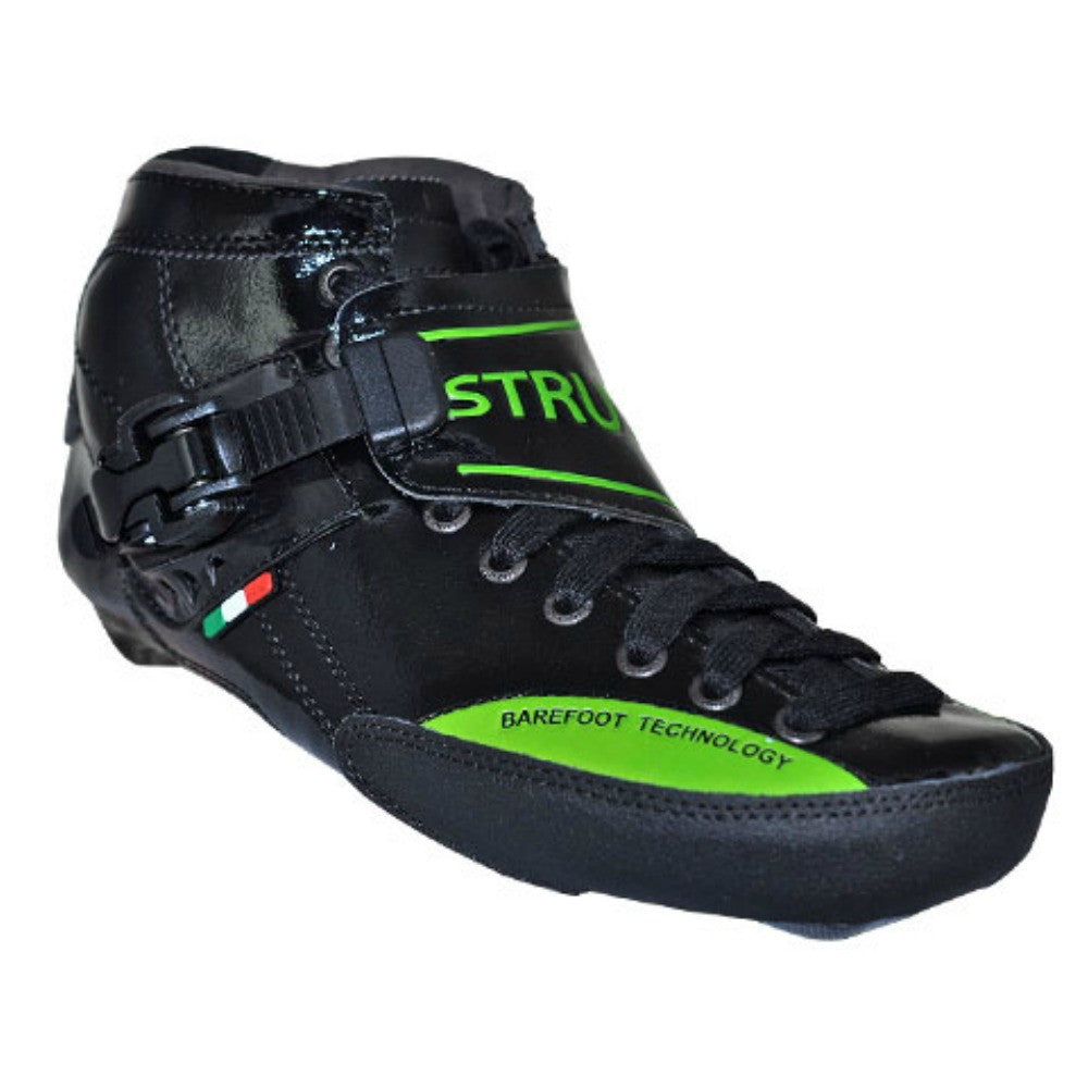 LUIGINO STRUT Inline Speed Skate Boot - Black and Green