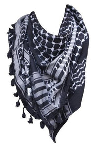 Keffiyeh - Inverted Black/White