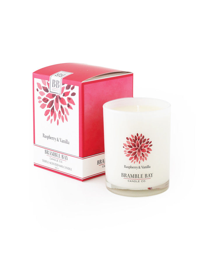 Soy Wax Candle 250g - Raspberry Vanilla