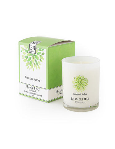 Soy Wax Candle 250g - Bamboo & Amber