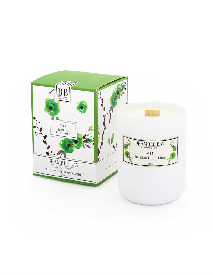 Soy Wax Candle 250g - Tahitian Coco-Lime