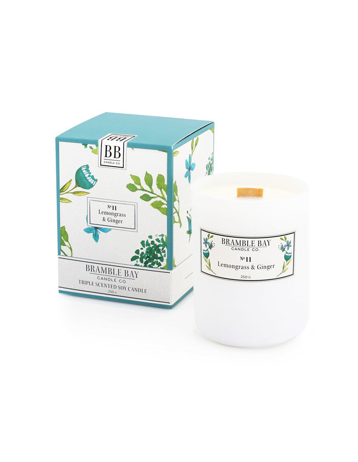 Soy Wax Candle 250g - Lemongrass & Ginger