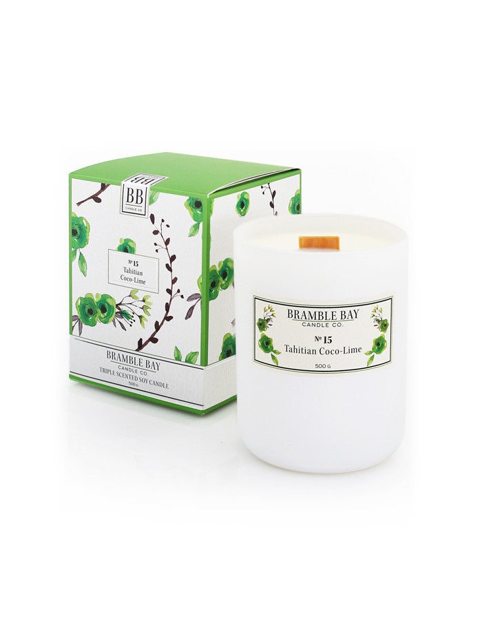 Soy Wax Candle 500g - Tahitian Coco-Lime