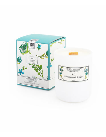 Soy Wax Candle 500g - Lemongrass & Ginger