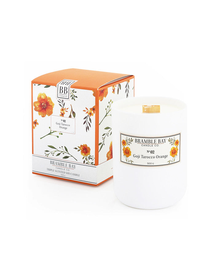 Soy Wax Candle 500g - Goji Tarocco Orange
