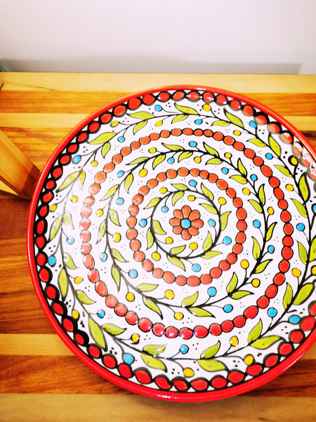 Large Flat Plate - Red