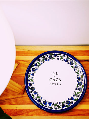 Ceramic Plate - Distance to Gaza
