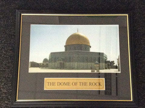 Framed Dome of the Rock Plaque