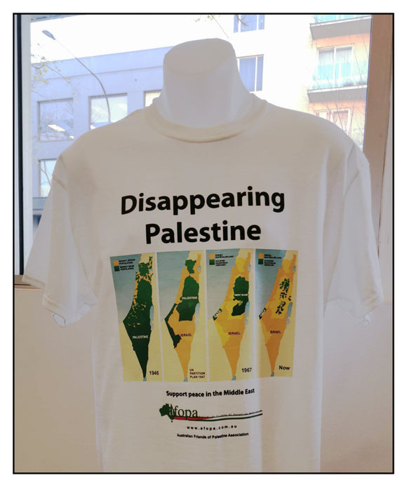 T-shirt 'Disappearing Palestine' Design