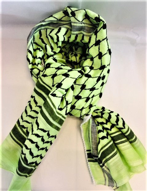 Keffiyeh - Lime Green/Black