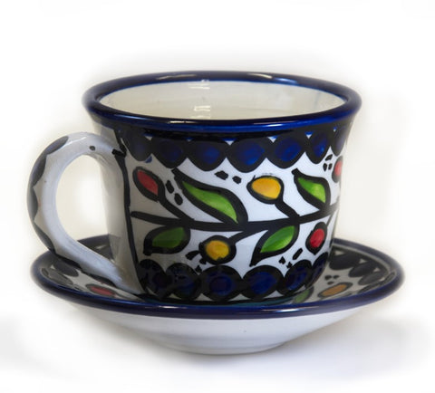 Cup and Saucer (large) - Blue