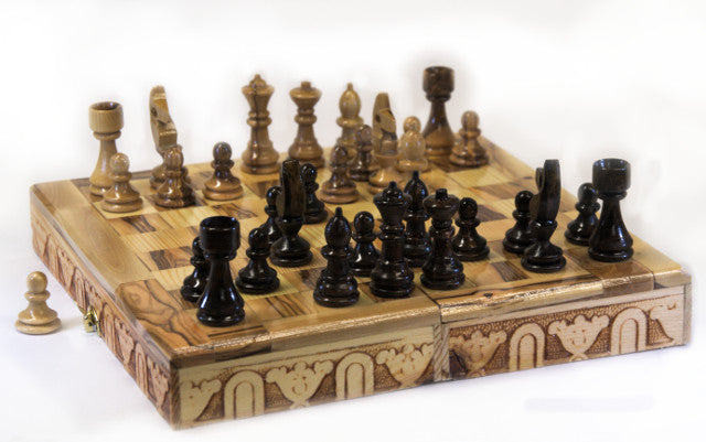 Olive Wood Chess Set (small)