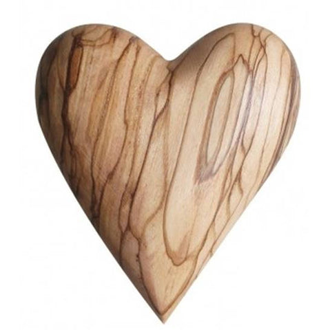 Olive Wood Heart (large)