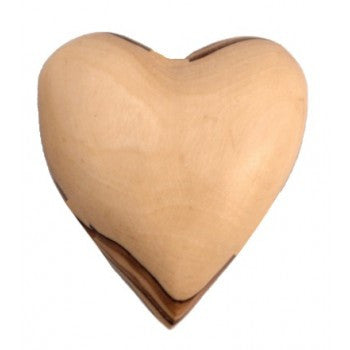 Olive Wood Heart (medium)