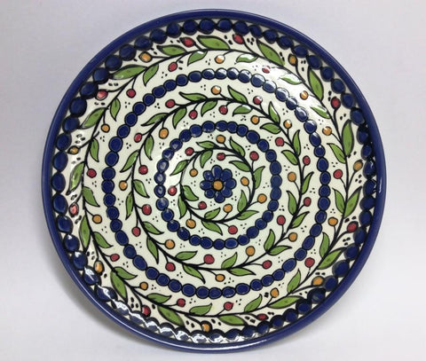 Large Flat Plate - Blue