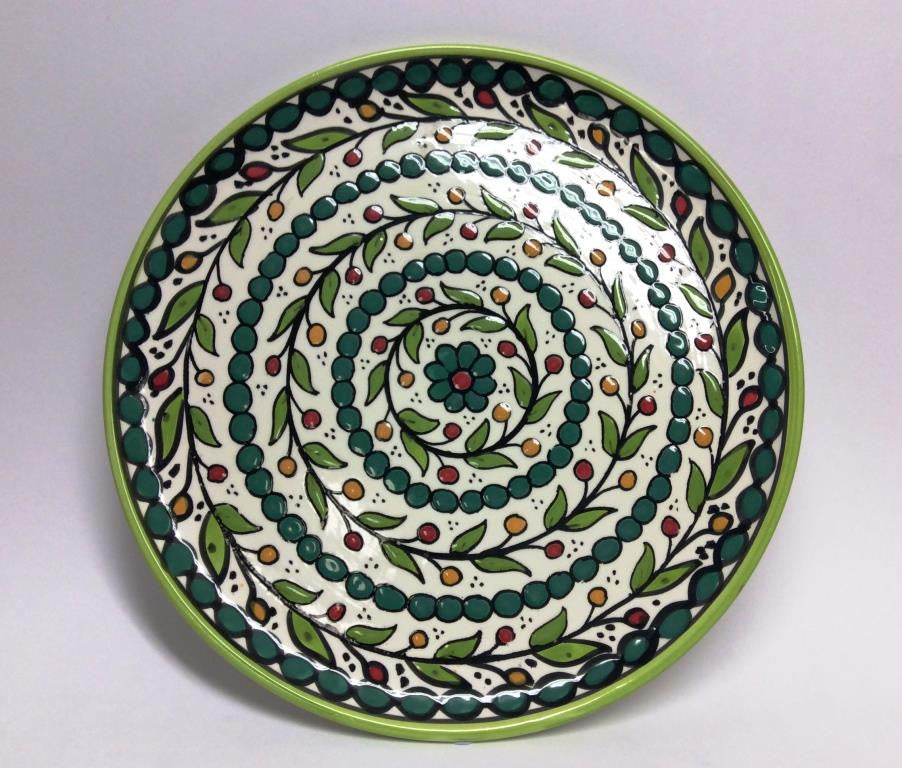 Large Flat Plate - Green