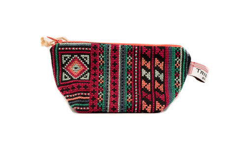 Embroidered Purse - Diamond and Stripes