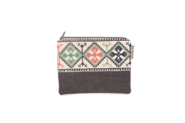 Embroidered Purse - Diamonds Design