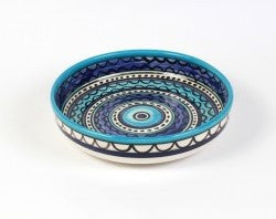 Shallow Bowl (small) - Light & Dark Blue
