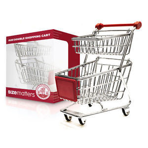 Mini Double Shopping Cart Desktop Storage