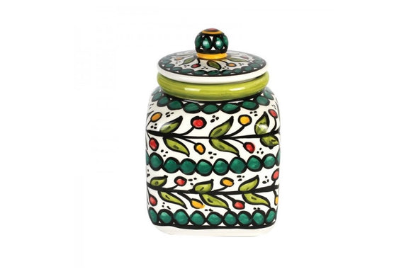 Square Cookie Jar (large) - Green