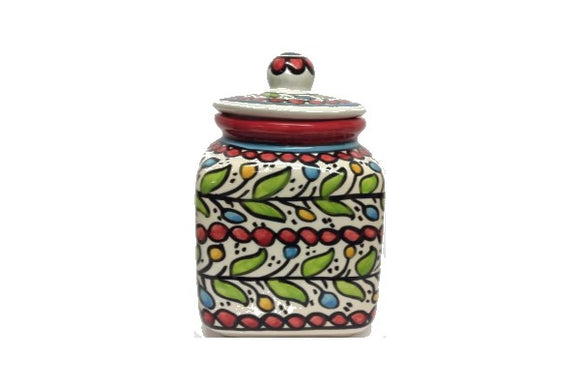 Square Cookie Jar (large) - Red