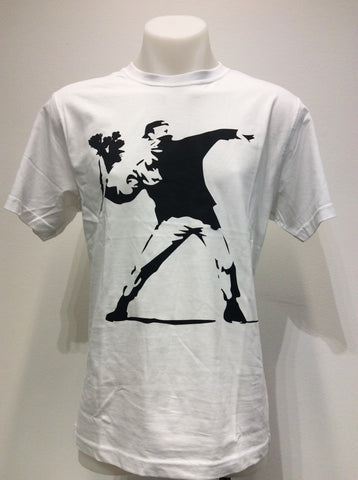 T-shirt 'Banksy flowers'