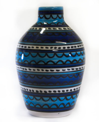 Vase (fluted) - Light & Dark Blue