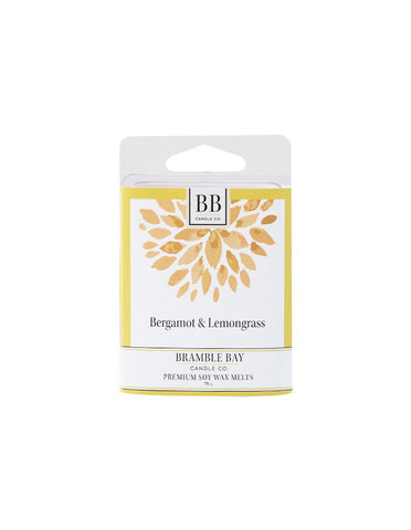 Soy Wax Melt 75g - Bergamot & Lemongrass