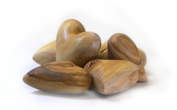Olive Wood Heart (small)