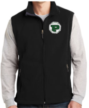 Fleece Band Vest with Embroidered Logo