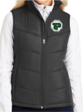 Ladies Puffy Band Vest with Embroidered Logo